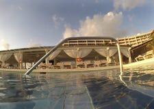Endless Swimming Pool at Dawn Stock Images