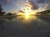 Endless Swimming Pool at Dawn Royalty Free Stock Image