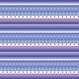 Seamless texture like knitting pattern with various stripes, dots and waves stock illustration