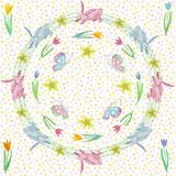 Endless texture for spring design, decoration, greeting cards stock illustration