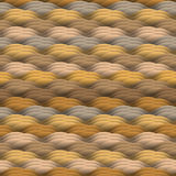 Endless texture in warm colors. Seamless vector abstract waves pattern Royalty Free Stock Images