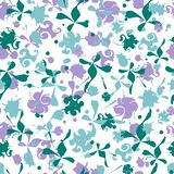 Seamless pattern with vector flowers ornament tile. stock illustration