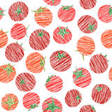 Endless tomato texture, seamless vegetable background. Abstract. Stock Photography