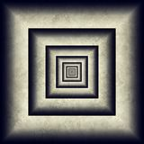 Endless tunnel, minimal grunge 3D abstraction Stock Photography