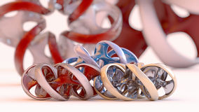 Endless twisted torus jewel - 3D illustration Stock Images