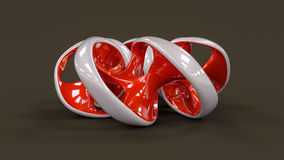Endless twisted torus jewel - 3D illustration Royalty Free Stock Image