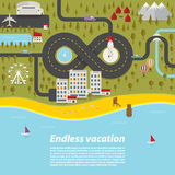 Endless vacation Stock Photo