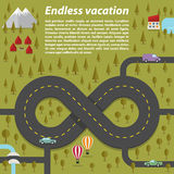 Endless vacation. Vector illustration Stock Photos
