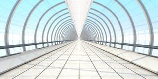 Endless vanishing walkway Royalty Free Stock Photo
