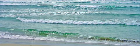 Endless Waves Panorama Royalty Free Stock Photography