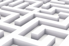 Endless white labyrinth Stock Photos