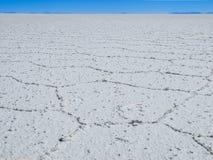 Endless white salt plain Stock Image