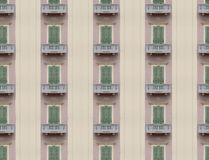 Endless windows facade Stock Image