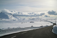 Endless winter road Royalty Free Stock Photography