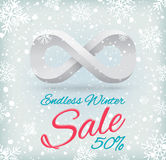 Endless winter sale Stock Photography