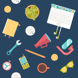 Endless working desk. Endless office working desk background Stock Photography