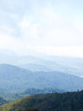 Endlessly. Color of the sky atop Doi Inthanon, Thailand Royalty Free Stock Photography