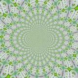 Endlos mit Kreis, Fractalmosaik in den hellen Farben vektor abbildung