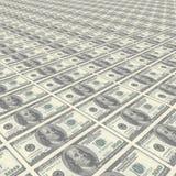 Endlose Reihen des Geldes Lizenzfreies Stockfoto