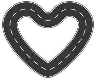 Endlose Straße der Liebe Stockbild