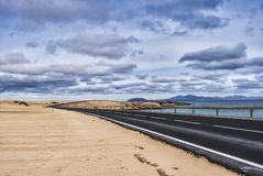 Endlose Straßen-Strand-Dünen Lizenzfreie Stockbilder