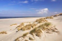 Endloser Strand auf der Insel von Terschelling, die Niederlande stockbilder