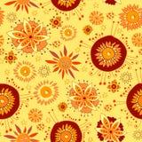 Endloses Blumenmuster im herbstlichen Thema Lizenzfreie Stockbilder