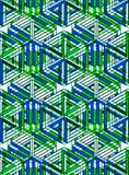 Endloses buntes symmetrisches Muster, Grafikdesign Geometrisch herein vektor abbildung