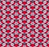 Endloses buntes symmetrisches Muster, Grafikdesign Geometrisch herein lizenzfreie abbildung