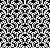 Endloses einfarbiges symmetrisches Muster, Grafikdesign geometrisch stock abbildung