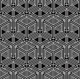 Endloses einfarbiges symmetrisches Muster, Grafikdesign geometrisch lizenzfreie abbildung