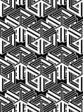 Endloses einfarbiges symmetrisches Muster, Grafikdesign geometrisch vektor abbildung