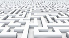 Endloses Labyrinth lizenzfreie abbildung