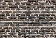 Endloses nahtloses Muster der traditionellen britischen Backsteinmauer Stockfotografie
