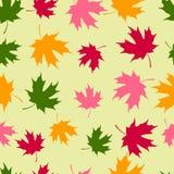 Endloses nahtloses Muster von Ahornblättern stock abbildung