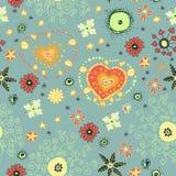 Endloses nettes nahtloses mit Blumenmuster Lizenzfreie Stockbilder