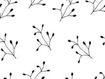 Endloses Schwarzweiss-Muster für Tapete Lizenzfreie Stockbilder