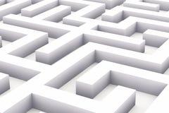 Endloses weißes Labyrinth Stockfotos
