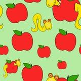 Endlosschrauben und Äpfel Stockfotos