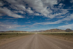 Endlss Gravel Road in the Naukluft Mountains Royalty Free Stock Images