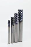 Endmills multi de la flauta Foto de archivo