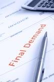 Endnachfrage-Mitteilung Lizenzfreies Stockfoto