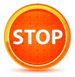 Endnatürlicher orange runder Knopf stock abbildung