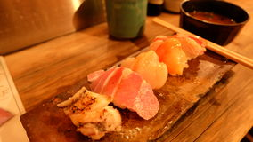Endo Sushi Osaka. The search for the best otoro sushi has come to an end; we found love inEndo Sushi, Osaka Royalty Free Stock Image