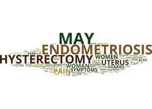 Endometriosis And Hysterectomy Weigh The Risks Text Background  Word Cloud Concept Stock Photography