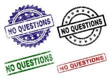 Endommagé texturisé AUCUN joints de timbre de QUESTIONS illustration libre de droits