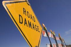 Endommagement de routes Photographie stock