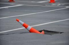 Endommagement de routes type photos libres de droits