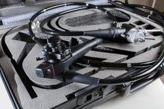 Endoscope in einem Koffer stockbild