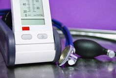 Endoscope et moniteur de pression photographie stock libre de droits
